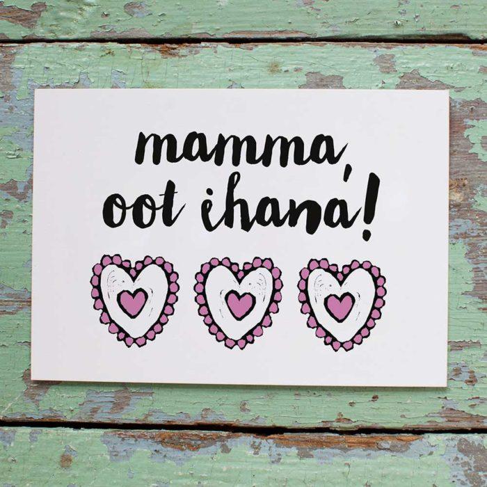 Kultamurunen mamma kortti