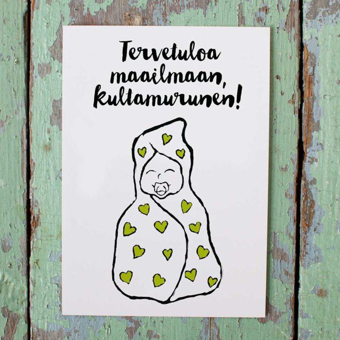 Kultamurunen vauvakortti