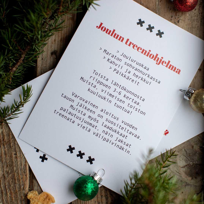 Kultamurunen joulukortit