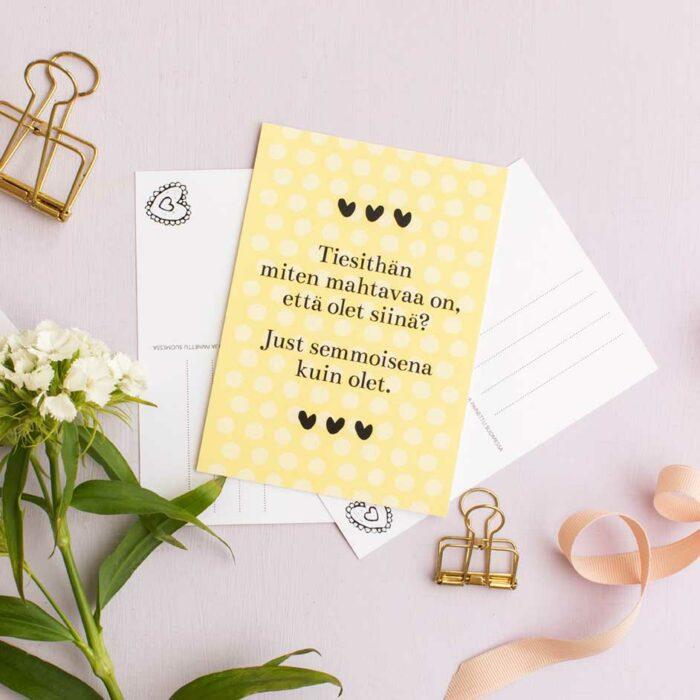 kultamurunen kortti ystävälle