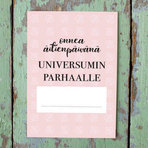 kultamurunen äitienpäiväkortti
