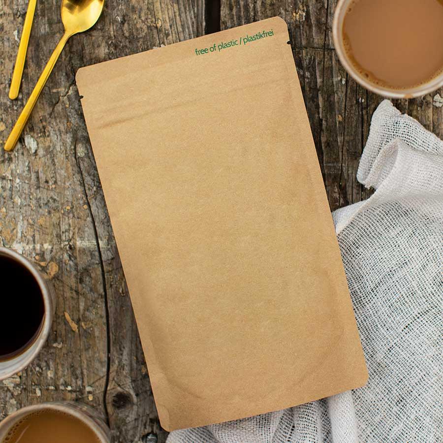 kultamurunen koristeltava kahvipussi